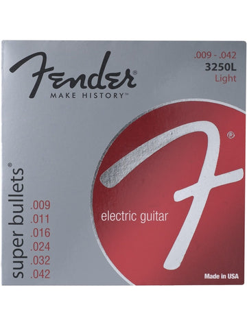 Fender 3250L Super Bullets Nickel-Plated Steel Electric Guitar Strings - Light (9-42) - Set