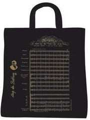 Canvas Carrying Bag - Beethoven's 9th Symphony Design - Black + Gold