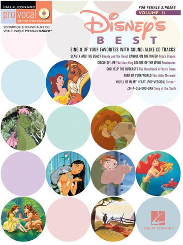 Pro Vocal Volume 11: Disney's Best - Female Singers (with CD)