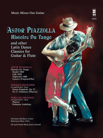 Astor Piazzolla: Histoire Du Tango + Other Latin Classics for Guitar + Flute Duet (with CD)