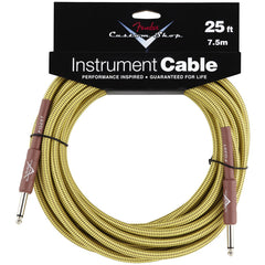 Fender Custom Shop Instrument Cable in Tweed - 25ft