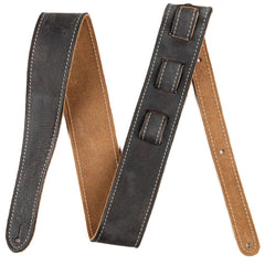 Fender Road Worn Leather Guitar Strap - Black