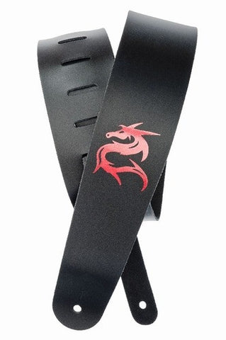 Planet Waves Dragon Leather Guitar Strap - Black