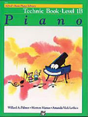 Alfred's Basic Piano Course - Technic Book 1B - Piano