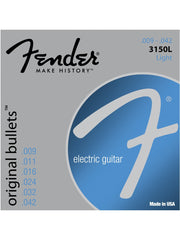 Fender 3150L Original Bullets Pure Nickel Electric Guitar Strings - Light (9-42) - Set