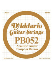D'addario Phosphor Bronze Acoustic Guitar String - .052 Gauge