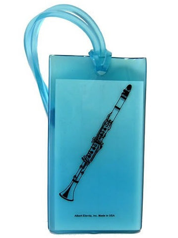 Musical Instrument Name Tag - Clarinet (various colours)