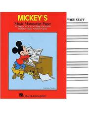 Mickey's Manuscript Paper - Wide Staff