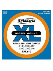 D'Addario XL Electric Guitar Strings - Regular Light (10-46) - Set