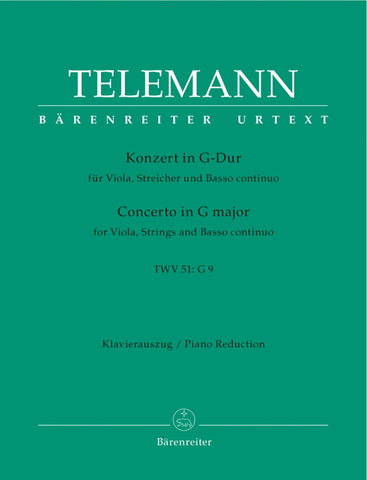 G.P. Telemann: Concerto in G major for Viola, Strings + Basso Continuo TWV 51: G9 - Viola + Piano