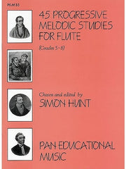 45 Progressive Melodic Studies for Flute - Grades 5-8