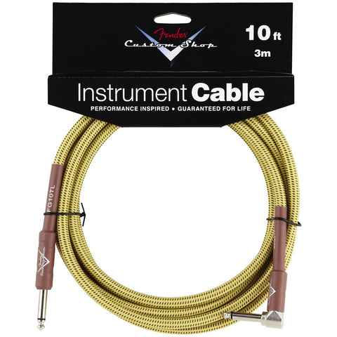 Fender Custom Shop Instrument Cable in Tweed - 10ft (Angled Jack)