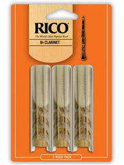 Rico Bb Clarinet Reeds - Size 1.5 (3 Pack)