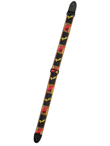Fender Monogrammed Guitar Strap - Black/Yellow/Red