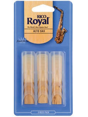 Rico Royal Alto Saxophone Reeds - Size 3 (3 Pack)