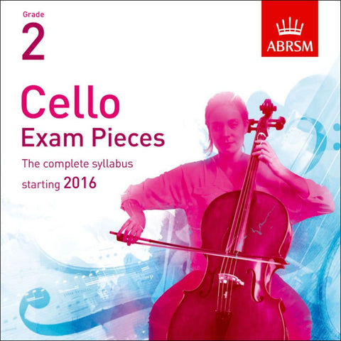 ABRSM Cello Exam Pieces - Grade 2 starting 2016 (CD)