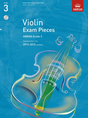 ABRSM Selected Violin Exam Pieces 2012-2015 - Grade 3 - Violin + Piano (with CD)