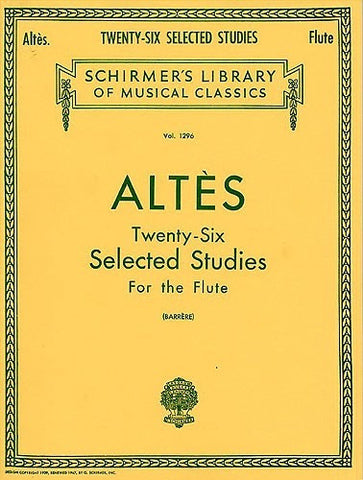 Henry Altes: 26 Selected Studies For Flute