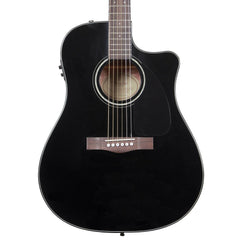 Fender CD-60CE Electro-Acoustic Guitar - Dreadnought Cutaway - Black