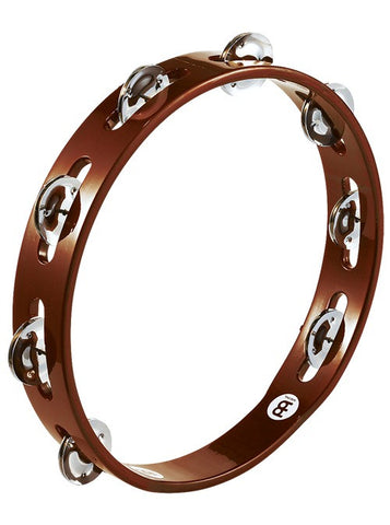 MEINL Traditional Wooden Tambourine - Single Row Steel Jingles (African Brown)