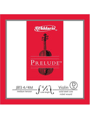 D'Addario Prelude Violin String - Medium - 4/4 - D (3rd)