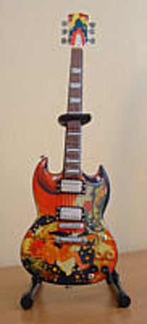 Mini Guitar Model - Eric Clapton Psychedelic SG