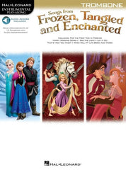 Hal Leonard Instrumental Play-Along: Songs from Frozen, Tangled + Enchanted- Trombone (Online Audio)