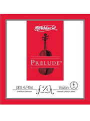 D'Addario Prelude Violin String - Medium - 4/4 - E (1st)