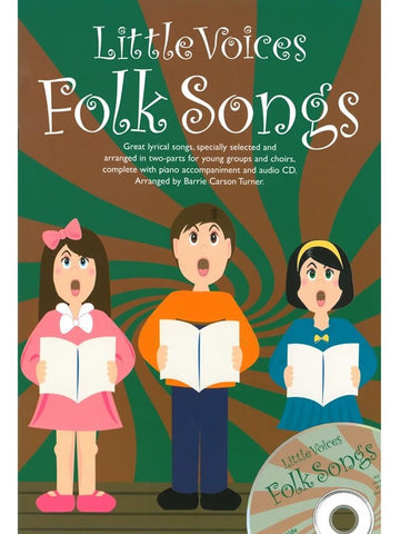 Little Voices: Folk Songs - SS + Piano (with CD)
