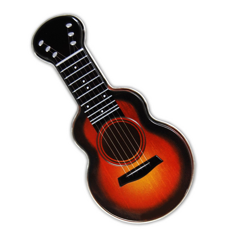 Acoustic Guitar Tin of Mints in Orange Sunburst