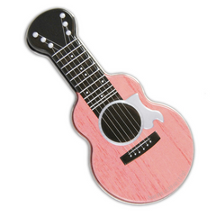 Acoustic Guitar Tin of Mints in Pink