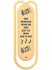 Giant Clip - Old Musicians Never Die (13cm) - Various Colours