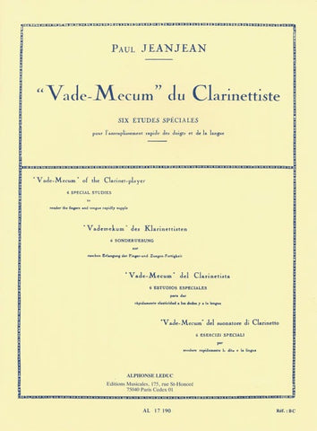 Paul Jeanjean: Vade Mecum of the Clarinet Player