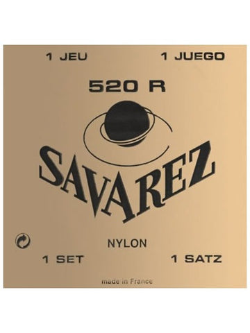 Savarez 520R Traditional Classical Guitar Strings - Red (High Tension) - Set