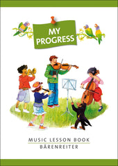 My Progress - Music Lesson Book (Practice Notebook)