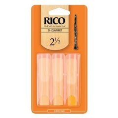 Rico Bb Clarinet Reeds - Size 2.5 (3 Pack)