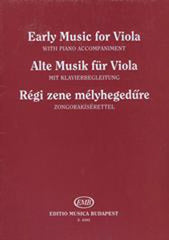Early music for viola (Viola/Piano)