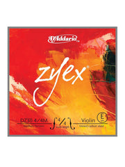 D'Addario Zyex Violin Strings (Aluminum D) - Medium - 4/4 - Set