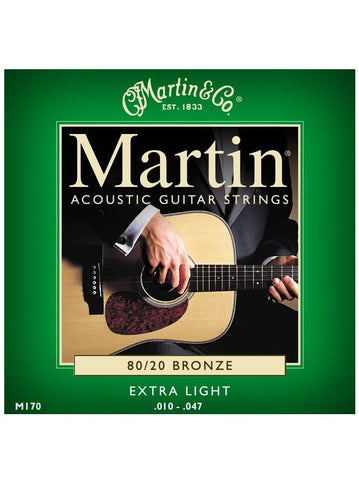 Martin 80/20 Bronze Acoustic Guitar Strings - Extra-Light (10-47) - Set
