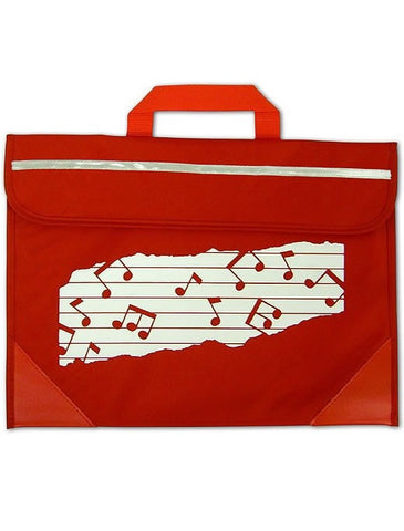 Mapac Music Bag Duo - Music Notes - Red