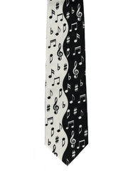 Tie Studio Polyester Tie - Notes (Black/White)