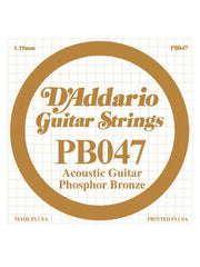 D'addario Phosphor Bronze Acoustic Guitar String - .047 Gauge