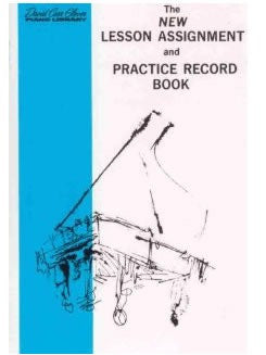 Lesson Assignment and Practice Record Book