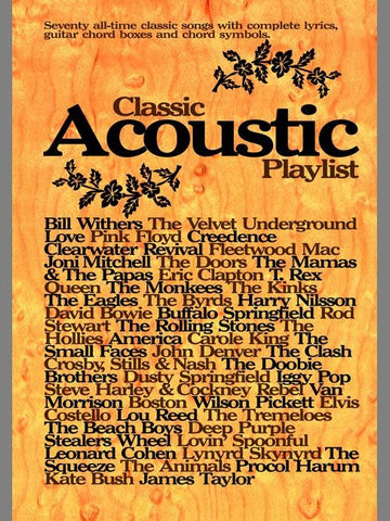 Classic Acoustic Playlist - Chord Songbook