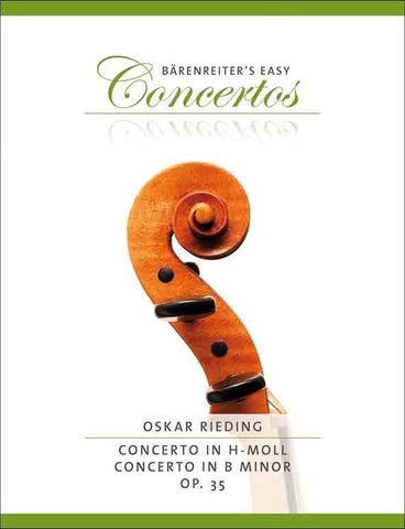 Barenreiter's Easy Concertos - Rieding: Concerti in B minor Op.35 (Violin/Piano)