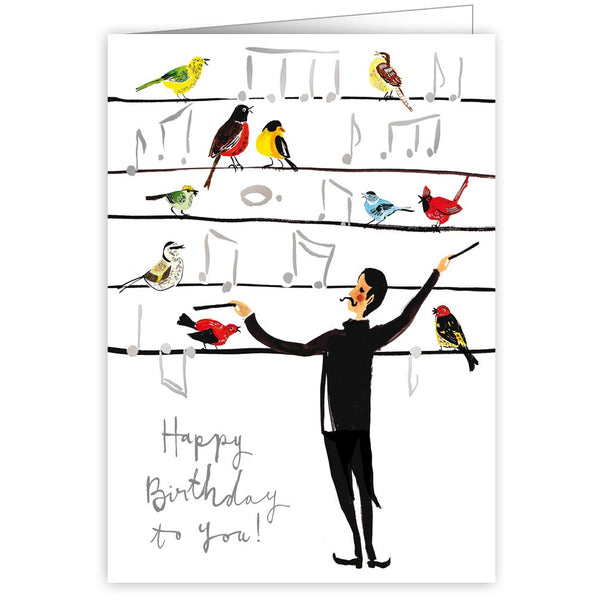Happy Birthday To You Conductor Greetings Card