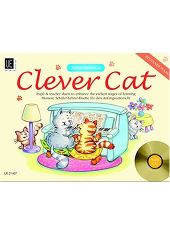 Mike Cornick: Clever Cat (Piano Duet + CD)