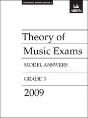ABRSM Theory of Music Exam Papers 2009 - Grade 3 - Model Answers