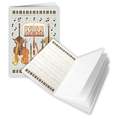 Instruments + Stand A6 Softback Notebook (Lined Paper)
