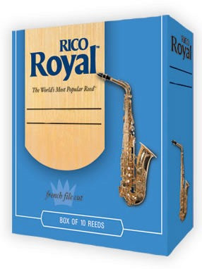 Rico Royal Alto Saxophone Reeds - Size 3.5 (Box of 10)